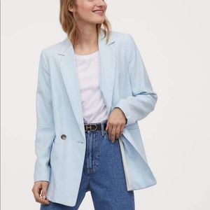 H&M double-breasted jacket with in woven fabric